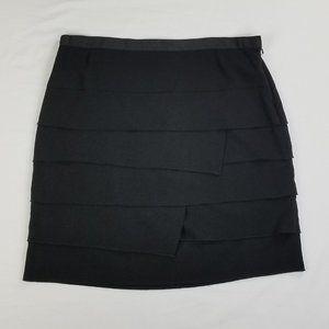Sharagano Size 10 Ruffle Lined Skirt Zip Closure